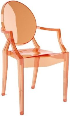 kartell-louis-ghost-chair-transparent-sunset-orange